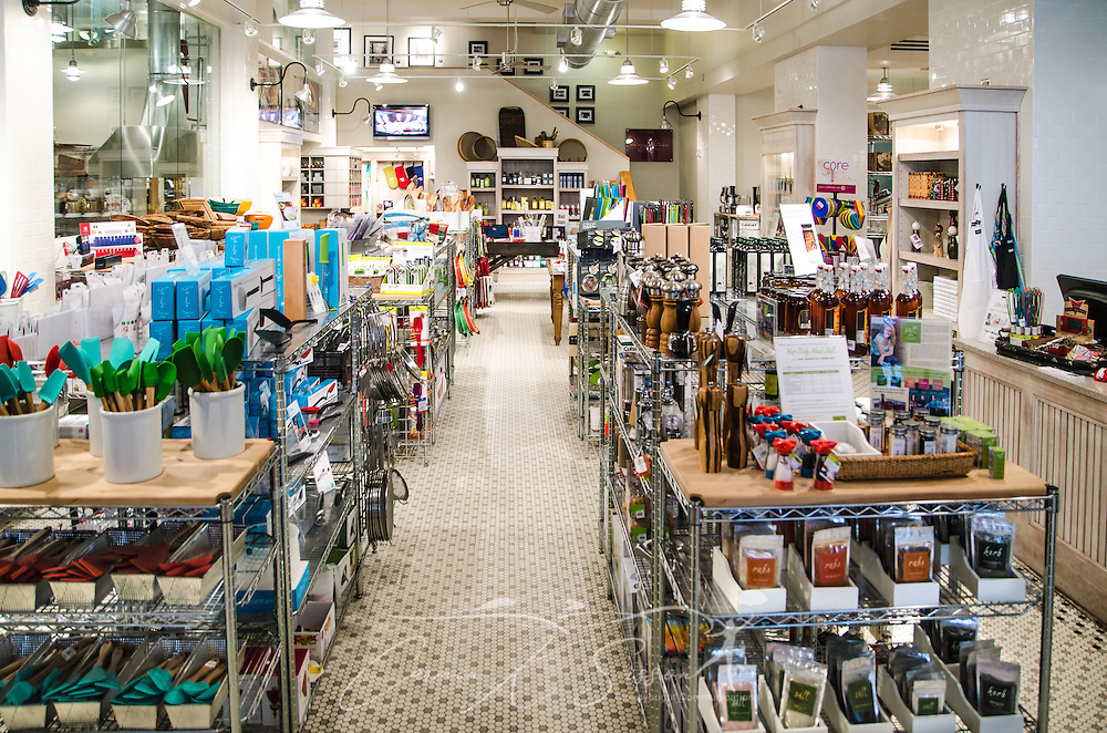 The Viking Range retail store in Greenwood, Miss. offers a wide variety of kitchenware, along with cooking classes. (Photo by Carmen K. Sisson)
