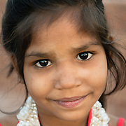 Portrait of young girl in Jodhpur
