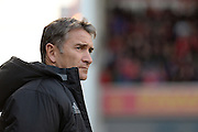 Nottingham Forest manager Philippe Montanier in front of the Trent End during the EFL Sky Bet Championship match between Nottingham Forest and Cardiff City at the City Ground, Nottingham, England on 22 October 2016. Photo by Jon Hobley.