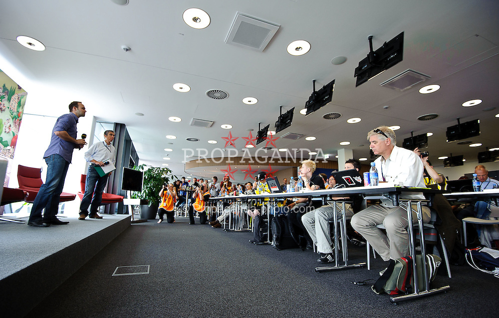 14.05.2011, Red Bull Ring, Spielberg, AUT, RED BULL RING, SPIELBERG, EROEFFNUNG, im Bild das Media Canter fuer Journalisten // The Media Center for the journalists during the official Opening for the Red Bull Circuit in Spielberg, Austria, 2011/05/14, EXPA Pictures © 2011, PhotoCredit: EXPA/ S. Zangrando