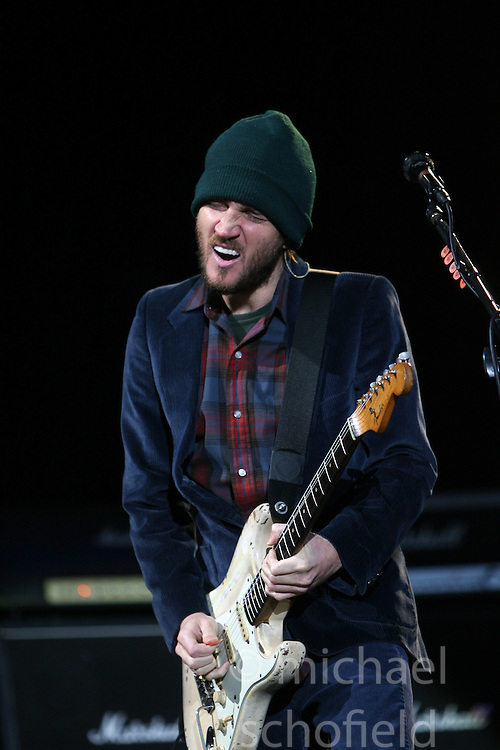 John Frusciante, of the Red Hot Chilli Peppers, headliners on the main stage at T in the Park, Sunday 2006..©Michael Schofield..