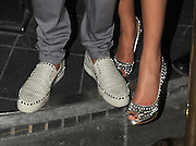 09.JUNE.2012. LONDON<br /> <br /> MARVIN HUMES AND ROCHELLE WISEMAN ARRIVING AT ROSE NIGHT CLUB IN MAYFAIR WEARING MATCHING STUDDED SHOES BEFORE LEAVING AT 2.30AM LOOKING WORSE FOR WEAR.<br /> <br /> BYLINE: EDBIMAGEARCHIVE.CO.UK<br /> <br /> *THIS IMAGE IS STRICTLY FOR UK NEWSPAPERS AND MAGAZINES ONLY*<br /> *FOR WORLD WIDE SALES AND WEB USE PLEASE CONTACT EDBIMAGEARCHIVE - 0208 954 5968*