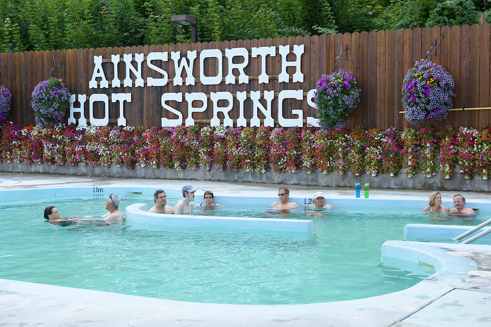 Canada, British Columbia,Nelson, Kootenay Lake, Ainsworth Hot Springs Resort