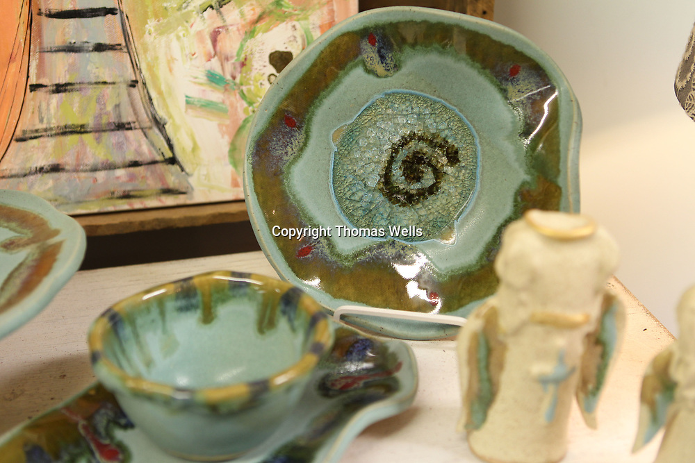 """After the glazing is added the bisque is fired again to give them their final apperence like this one from their """"ocean"""" line of glazes."""