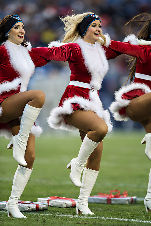 NASHVILLE, TN - DECEMBER 15: Cheeleader of the Tennessee Titans performs during a game against the Arizona Cardinals at LP Field on December 15, 2013 in Nashville, Tennessee.  The Cardinals defeated the Titans 37-34.  (Photo by Wesley Hitt/Getty Images) *** Local Caption ***
