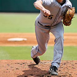 June 04, 2011; Tallahassee, FL, USA; UCF Knights starting pitcher Danny Winkler (35) during the third inning of the Tallahassee regional of the 2011 NCAA baseball tournament against the Bethune-Cookman Wildcats at Dick Howser Stadium. Mandatory Credit: Derick E. Hingle