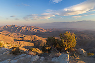 Keys View in Joshua Tree National Park is a great place to watch a sunset. You can see 5,000 feet below to the Palm Springs area, the Salton Sea, and the San Andreas Fault.<br />