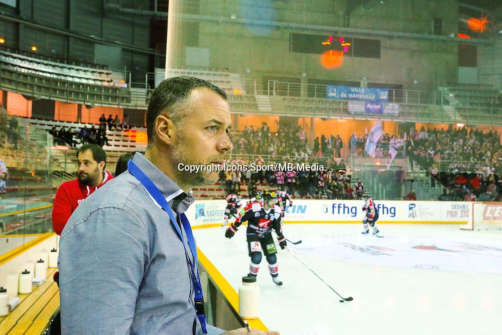 Olivier Duclos  - 25.01.2015 - Rouen / Amiens - Finale Coupe de France 2015 de Hockey sur glace<br /> Photo : Xavier Laine / Icon Sport
