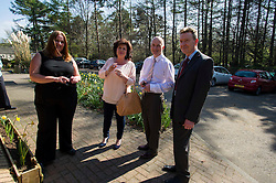 Elaine C Smith was on hand today to cut the ribbon on the Alcohol Related Brain Damage Unit run by voluntary organisation Penumbra in partnership with NHS Lothian and City of Edinburgh Council.  Dr Lynn McCallum, clinical lead at the ARBD; Peter Gabbitas (white shirt) director of health and safety City of Edinburgh Council, and Graham Henderson, Director of services and development at Penumbra welcomed ms Smith to the unit. Edinburgh 23 April 2015  Ger Harley, StockPix.eu
