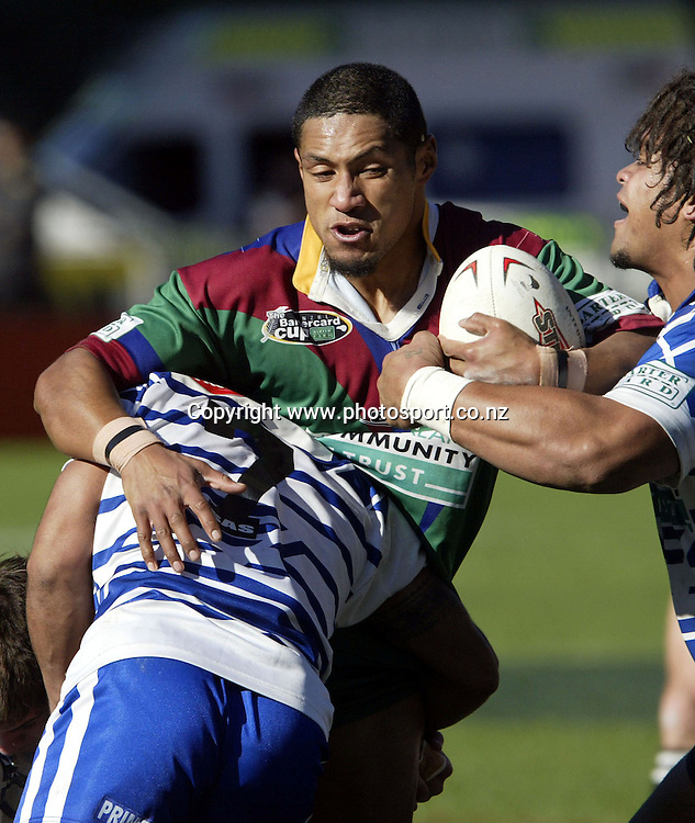 Marist's Tim Hala in action during the Bartercard Cup Rugby League match between Marist and Glenora played at Ericsson Stadium, Auckland on Sunday.  Photo: Michael Bradley/PHOTOSPORT