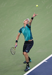 September 10, 2017 - Flushing Meadows, New York, U.S - Rafael Nadal wins his Championship match on Day Fourteen of the Men's 2017 US Open Final played against Kevin Anderson (in photo) at the USTA Billie Jean King National Tennis Center on Sunday September 10, 2017 in the Flushing neighborhood of the Queens borough of New York City. Nadal defeats Anderson, 6-3, 6-3, 6-4. JAVIER ROJAS/PI (Credit Image: © Prensa Internacional via ZUMA Wire)