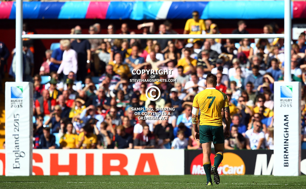 BIRMINGHAM, ENGLAND - SEPTEMBER 27: Sean McMahon of Australia during the Rugby World Cup 2015 Pool A match between Australia and Uruguay at Villa Park on September 27, 2015 in Birmingham, England. (Photo by Steve Haag/Gallo Images)