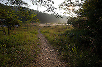 TRAIL LEADING TO THE MOUNTAIN FORK RIVER NEAR BROKEN BOW OKLAHOMA