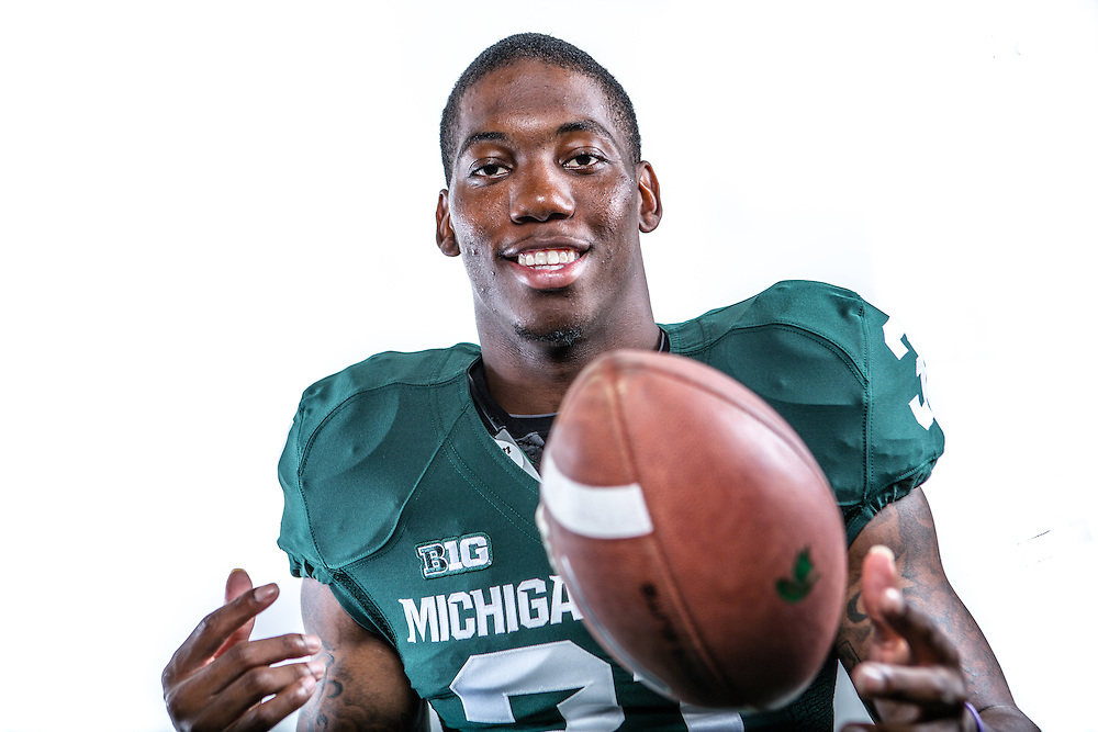 Darqueze Dennard, Promotional Athlete Portrait for Michigan State University Athletic Department.<br />