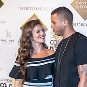 NLD/Amsterdam/20170829 - Grazia Fashion Awards 2017, Laura Ponticorvo en partner Ryan Rijger