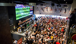 Fans watch England vs Wales on screens at in The Sports Bar and Grill Ashton Gate - Mandatory by-line: Robbie Stephenson/JMP - 16/06/2016 - FOOTBALL - Ashton Gate - Bristol, United Kingdom  - England vs Wales - UEFA Euro 2016