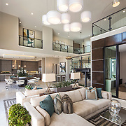 Edinger Architects has put a an Irving Gill modern spin on this Toll Brothers Porter Ranch development in Northridge, California
