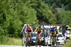 Doris Schweizer (Cylance Pro Cycling) leads a small group at Giro Rosa 2016 - Stage 6. A 118.6 km road race from Andora to Alassio, Italy on July 7th 2016.