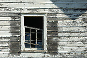 dilapidated farmhouse window