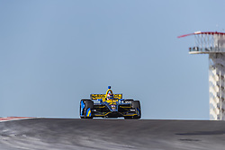 February 12, 2019 - Austin, Texas, U.S. - ZACH VEACH (26) of the United Stated goes through the turns during practice for the IndyCar Spring Test at Circuit Of The Americas in Austin, Texas. (Credit Image: © Walter G Arce Sr Asp Inc/ASP)