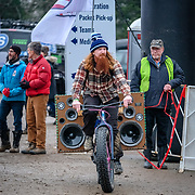Sunday, Dec. 16, 2018 — Peter Reid from Against the Grain Cycling team provides some music options for the crowds at the 2018 USA Cycling Cyclocross National Championships 18.2 in Louisville, KY. #CXNATS #photopresse.photoshelter.com #CYCLOCROSS #CX #FUJIXPRO2 #FUJIFILM