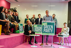 © Licensed to London News Pictures. 22/05/2017. London, UK.  Jonathan Bartley, Co-Leader of the Green Party, speaks at the launch of the party's manifesto ahead of the upcoming General Election at a press conference in central London.  Photo credit : Stephen Chung/LNP