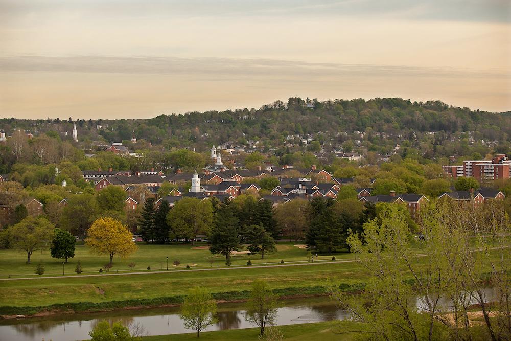 Ohio University's South Green on April 17, 2012.