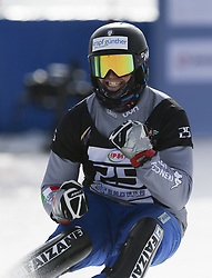 ZHANGJIAKOU, Feb. 24, 2019  Daniele Bagozza of Italy celebrates during the men's Parallel Slalom final of FIS Snowboard World Cup 2018-2019 in Zhangjiakou of north China's Hebei Province, on Feb. 24, 2019. Daniele Bagozza won the first. (Credit Image: © Caocan/Xinhua via ZUMA Wire)