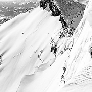 Griffin Post drops a monster backcountry line in the Tetons.