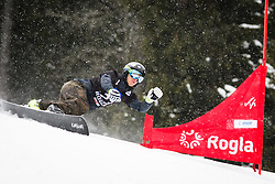 Konstantin Shipilov (RUS) competes during Qualification Run of Men's Parallel Giant Slalom at FIS Snowboard World Cup Rogla 2016, on January 23, 2016 in Course Jasa, Rogla, Slovenia. Photo by Ziga Zupan / Sportida
