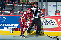 REGINA, SK - MAY 20: Mitchell Balmas #11 of Acadie-Bathurst Titan skates with the puck against the Regina Pats at the Brandt Centre on May 20, 2018 in Regina, Canada. (Photo by Marissa Baecker/CHL Images)