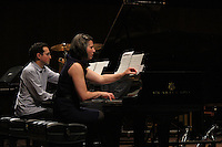 The University of Chicago's Contempo celebrated 50 years this Sunday with a concert at the Reva and David Logan Center located at 915 E. 60th Street.<br /> <br /> 0639 – Daniel Schlosberg and Lisa Kaplan performed to dual pian song, Entwined Channels.