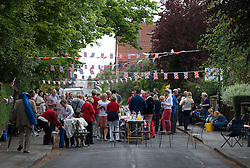 © Licensed to London News Pictures. 05/06/12.Saltburn, England...Residents of Marske Mill Lane in Saltburn hold a street party as part of the Jubilee celebrations. . .The Royal Jubilee celebrations. Great Britain is celebrating the 60th  anniversary of the countries Monarch HRH Queen Elizabeth II accession to the throne this weekend Photo credit : Ian Forsyth/LNP