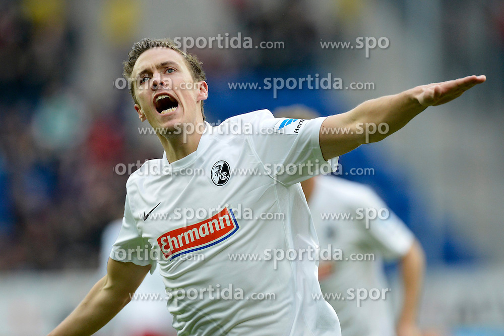 02.02.2013, Rhein Neckar Arena, Sinsheim, GER, 1. FBL, TSG 1899 Hoffenheim vs SC Freiburg, 20. Runde, im Bild Max KRUSE SC Freiburg erzielt das 0:1 Torjubel, Jubel, Freude, Emotion TOR // during the German Bundesliga 20th round match between TSG 1899 Hoffenheim and SC Freiburg at the Rhein Neckar Arena, Sinsheim, Germany on 2013/02/02,, , , , . EXPA Pictures © 2013, PhotoCredit: EXPA/ Eibner/ Weber..***** ATTENTION - OUT OF GER *****