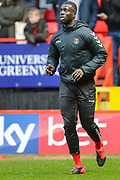 Charlton Athletic defender Mouhamadou-Naby Sarr (23) warms up prior to the EFL Sky Bet Championship match between Charlton Athletic and Blackburn Rovers at The Valley, London, England on 15 February 2020.