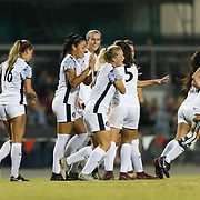 26 October 2018: The San Diego State women's soccer team wraps up it's regular season schedule at home for senior night against the New Mexico Lobos.
