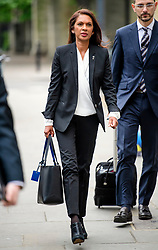 © Licensed to London News Pictures. 02/05/2017. London, UK. Lead claimant in the Article 50 legal case GINA MILLER Arrives to take part in a discussion titled How to Brexit: The Best Deal for Britain, hosted by the The how to: Academy, in West London.Photo credit: Ben Cawthra/LNP