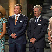NLD/Maastricht/20140830 - Festivities on the occasion of the 200th jubilee of the Kingdom of the Netherlands in Maastricht - 200 Jaar Koninkrijk der Nederlanden, King Willem-Alexander, Queen Máxima, King Philippe en Queen Mathilde van België