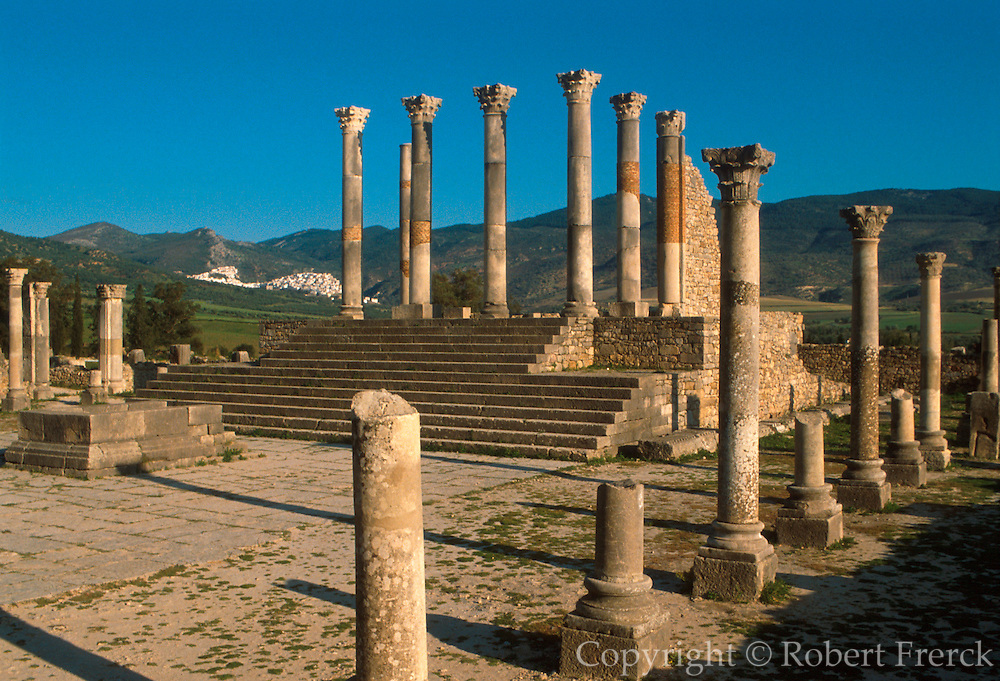 MOROCCO, ROMAN, VOLUBILIS Roman City, 1st-3c.AD; the Capitol