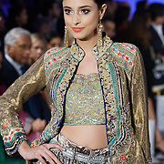 London,England,UK : 31th May 2016 : Pakistani Fashion a Model wearing Designer Faiza Samee latest designer catwalk at the Fashion Parade in supporting 'save the children' at Mandarin Oriental Hotel, London. Photo by See Li