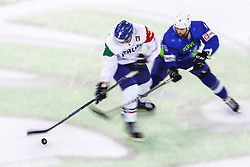 Aleksandar Magovac of Slovenia during Ice Hockey match between National Teams of Italy and Slovenia in Round #5 of 2018 IIHF Ice Hockey World Championship Division I Group A, on April 28, 2018 in Arena Laszla Pappa, Budapest, Hungary. Photo by David Balogh / Sportida