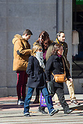 EXCLUSIVE<br /> Queen Letizia has become the model par excellence of Spanish brand Mango to which many of the designs is confident that looks on important occasions. with the free time allowed by her official engagements, Her Majesty took the opportunity to renew her wardrobe for the next season by visiting one of its stores in the centre of the capital. No doubt that Letizia promote and publicise the Spanish firms. Everyone knows that her head designer is Felipe Varela, but also committed to low cost brands like Zara and Mango. Indeed, The Queen used her spare time to renew her wardrobe, visiting some places of some of the most emblematic streets of Madrid. She passed completely unnoticed by passersby who was on his way, she stopped at a traffic light and quietly crossed the crosswalk.<br /> It displaying his simplicity always coupled with his innate elegance. She chose for the occasion a modern black coat that combined with a straight jeans, oversize boots laces and gray scarf to keep out the cold temperatures tones. It also sported sunglasses cat-eye style with the passing totally unnoticed. For shopping, she chose the Golden Mile, which are the most expensive shops zone in the city<br /> ©Exclusivepix Media