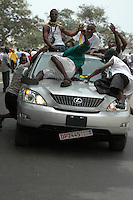 Ghana, Accra, 2007. Exuberant Ghanaians make a display for everyone during the Anniversary celebrations on March 6th.