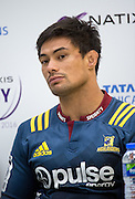 Highlanders Captain SHANE CHRISTIE at the post match press conference following the Natixis Cup rugby match between French team Racing 92 and New Zealand team Otago Highlanders at Sui San Wan Stadium in Hong Kong