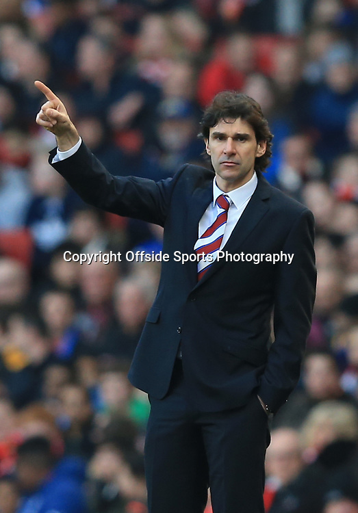 15 February 2015 - The FA Cup Fifth Round - Arsenal v Middlesbrough - Middlesbrough manager, Aitor Karanka - Photo: Marc Atkins / Offside.