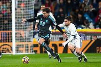Real Sociedad's midfielder Mikel Oyarzabal and Real Madrid's midfielder Mateo Kovacic during the match of La Liga between Real Madrid and   Real Sociedad at Santiago Bernabeu Stadium in Madrid, Spain. January 29th 2017. (ALTERPHOTOS/Rodrigo Jimenez)