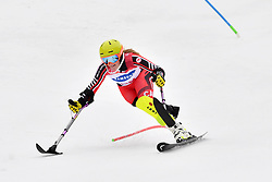 TURGEON Frederique LW2 CAN competing in the ParaSkiAlpin, Para Alpine Skiing, Slalom at the PyeongChang2018 Winter Paralympic Games, South Korea.