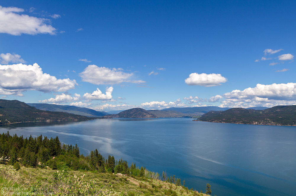 View of Okanagan Lake looking towards Vernon from the Fintry area of British Columbia, Canada