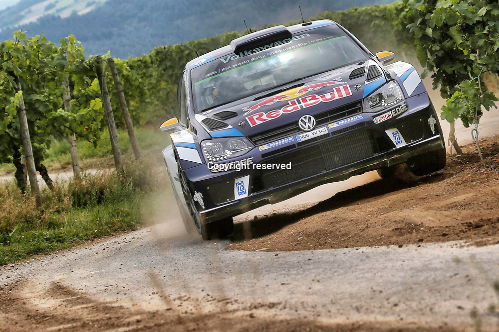 19.08.2016. Mosel, Germany. WRC ADAC rally of Germany, SS3 and SS4.  WRC, Deutschland Rallye Andreas Mikkelsen ( NOR ) and Jaeger Synnevag ( NOR ) - Volkswagen Polo