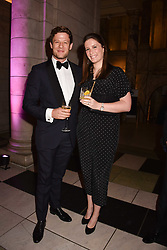 James Norton and his sister Jessica Norton at The Sugarplum Dinner 2017 to benefit the type 1 diabetes charity JDRF held at the Victoria & Albert Museum, Cromwell Road, London England. 14 November 2017.<br /> Photo by Dominic O'Neill/SilverHub 0203 174 1069 sales@silverhubmedia.com